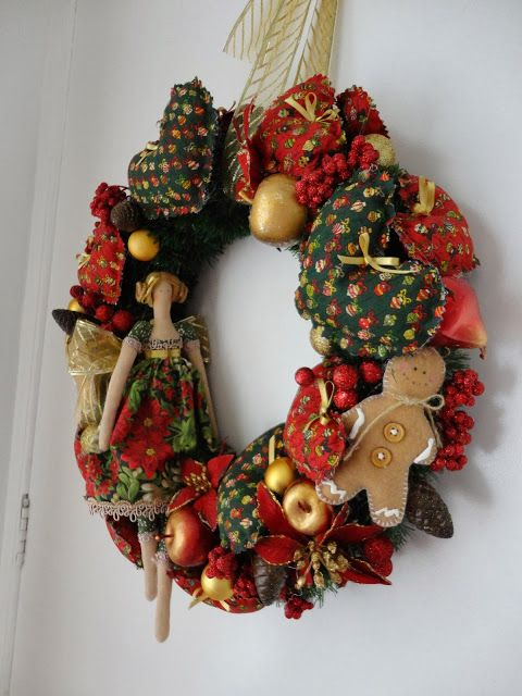 Toca do tricot e crochet: Minha guirlanda de Natal Tilda !!!