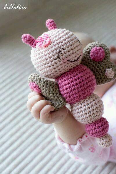 bebekler için sevimli minik el örgüsü oyuncak modeli