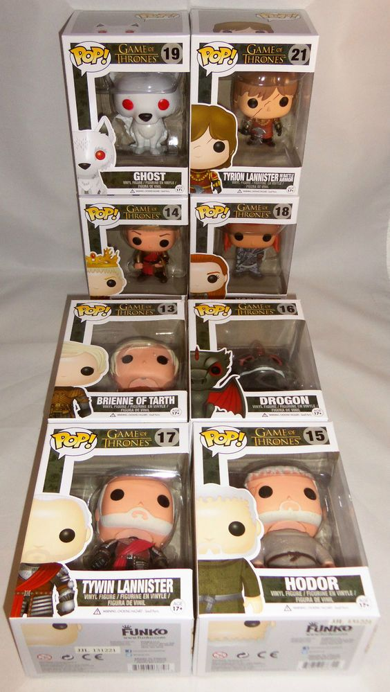 FUNKO POP! VINYL POP SET OF 8 Series 3 - GAME OF THRONES  for Sale