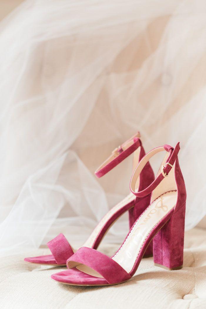 Pretty In Pink Tented Wedding Wedding Shoes Heels Wedge Wedding