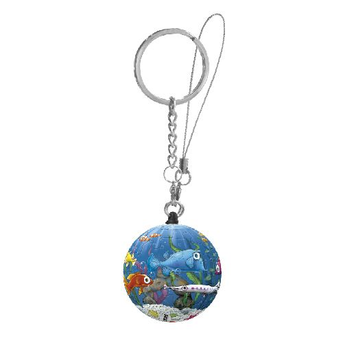 Puzzle keychains of 24 pcs . Features perfectly crafted, curved puzzle-pieces Can be easily assembled together to form a solid, smooth ball No glue