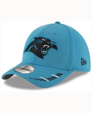 New Era Carolina Panthers Team Hashmark 39THIRTY Cap - Blue L/XL