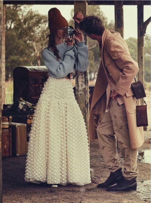 """""""Last Train"""" Ondria Hardin for Vogue Australia March 2016"""