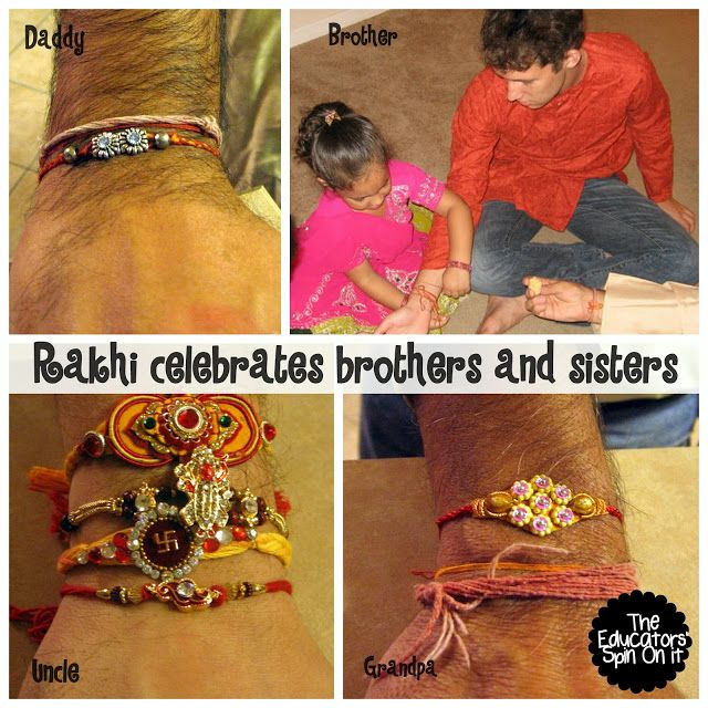 Learning about how indian families celebrate Rakhi with brothers and sisters.  An indian festival called Raksha Bandhan.