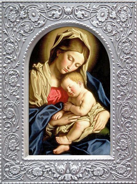 Мария с младенцем Гальванопластика 95х125 цена - Иконы гальванопластика <- Иконы купить - Каталог   Купить…