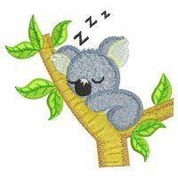 Baby Koala - Wind Bell Embroidery   OregonPatchWorks