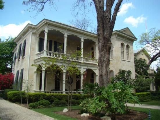 King William Historic District: One of the beautiful houses in the King William Neighborhood.  The oldest historic district in Texas (San Antonio)