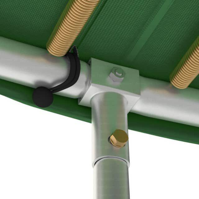 Klassik Trampolin Ø 490 cm mit Netz, grün, bis 180 kg - Ampel 24