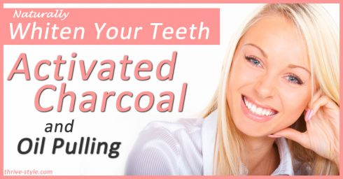 Use activated charcoal in conjunction with oil pulling for a natural effective way to whiten your teeth! It's affordable and easy to do, with great results!