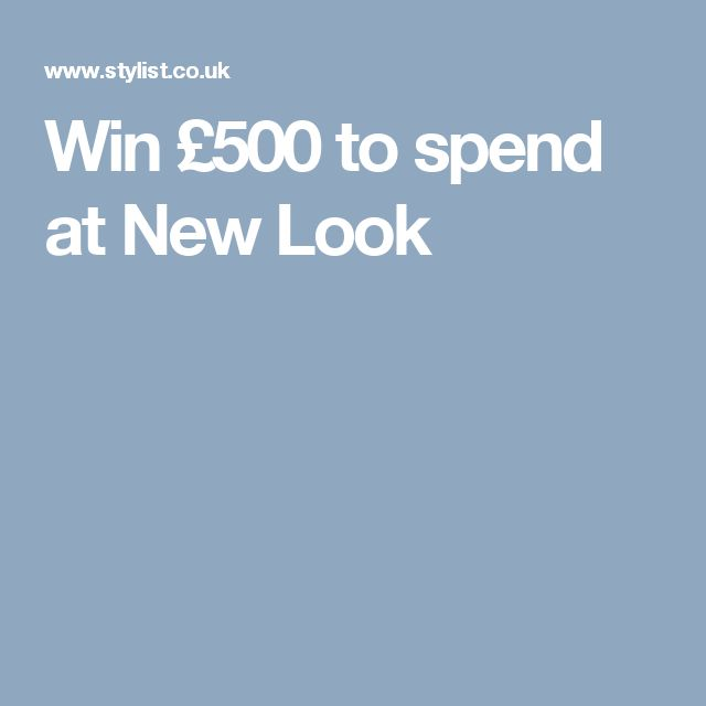 Win £500 to spend at New Look