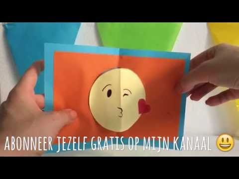 DIY emoji pop-up kaart / emoji pop up card (Nederlands) - YouTube