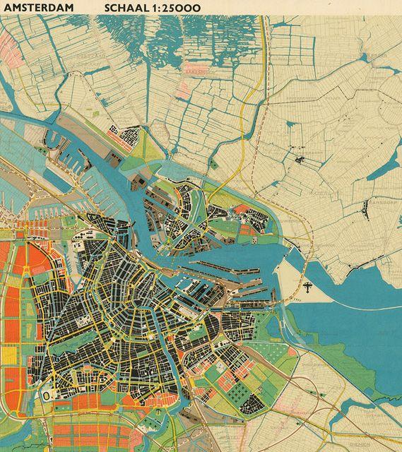 aymerydelamaisonfort:  General expansion plan for Amsterdam, 1934 (detail), via hyperrealcartography