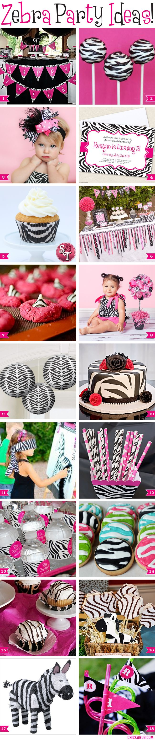 Fabulous zebra party ideas!