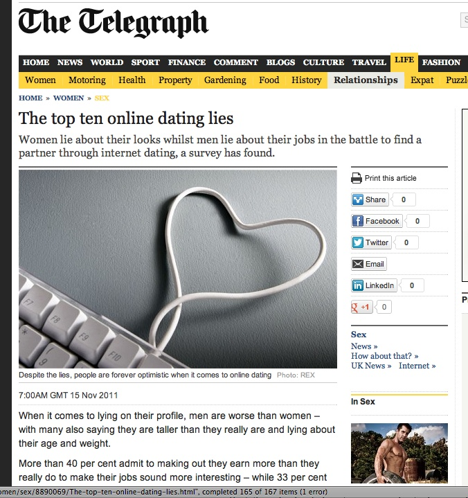 truths and lies of online dating
