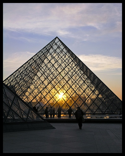 Paris - Louvre - sunset 7