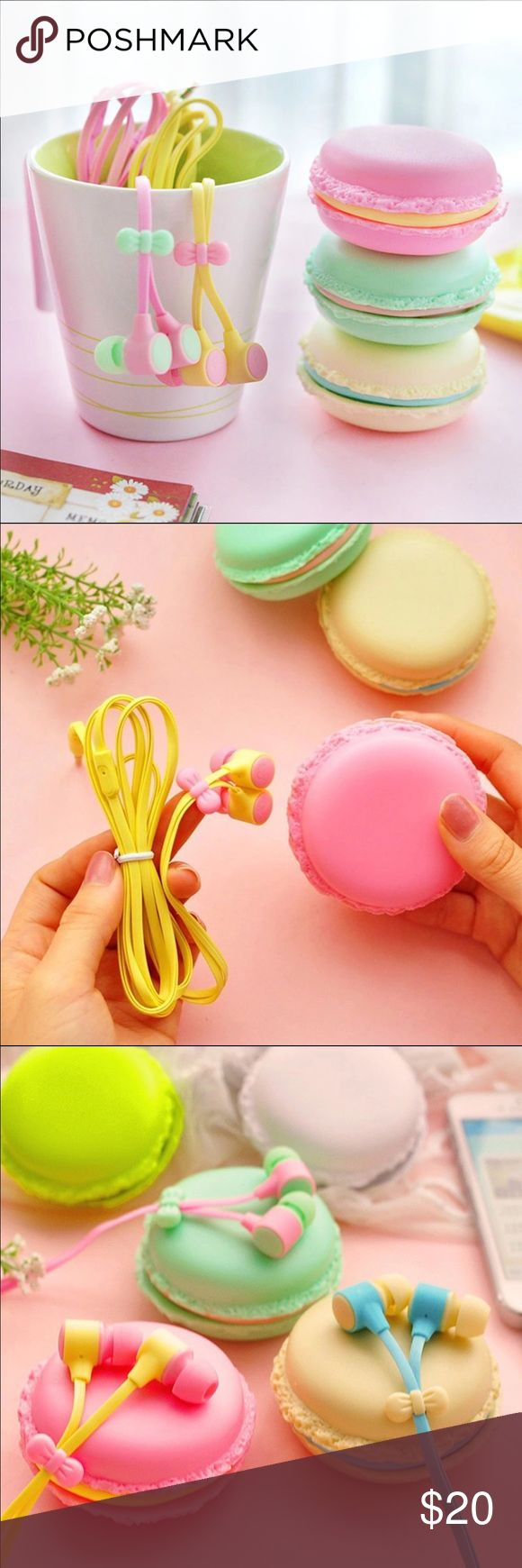 Cute Earbuds & Storage Case Cute enough to eat! High quality, noise canceling earbuds come with an adorable carrying case! #notuo Available in: •Pink & Yellow •Green & Pink •Blue & Cream Urban Outfitters Other