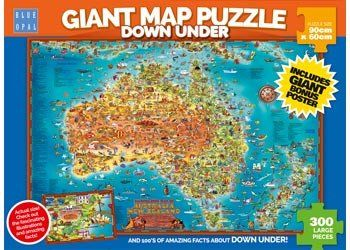 25 best maps for kids images on pinterest puzzles puzzle and riddles blue opal giant map down under puzzle 300 pc teaches children where cities and places are in australia gumiabroncs Images