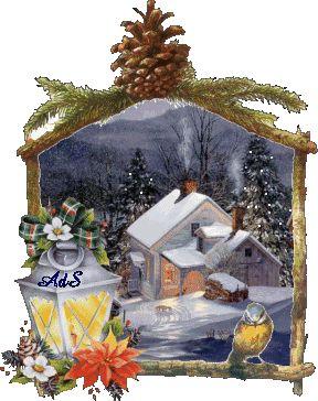 Paesaggio di Natale Nevicato 3D