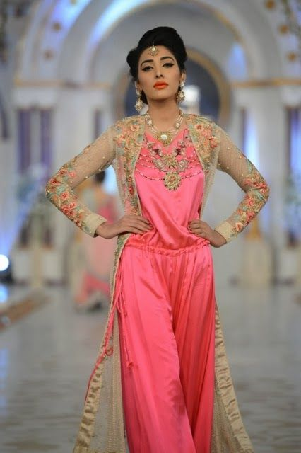 Neon pink. Pretty in pink. Pink. pakistan desi south asian fashion couture.