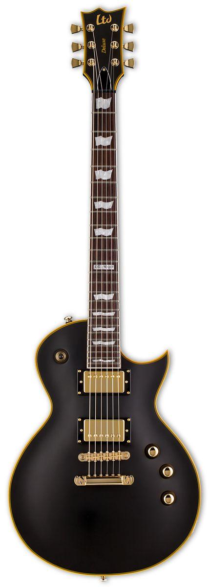 ESP LTD EC-1000 Vintage Black W/Seymour Duncan Pickups