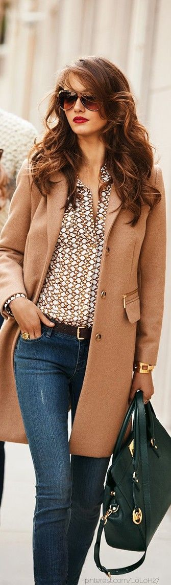 A nice camel trench will make anything look classy and sophisticated.
