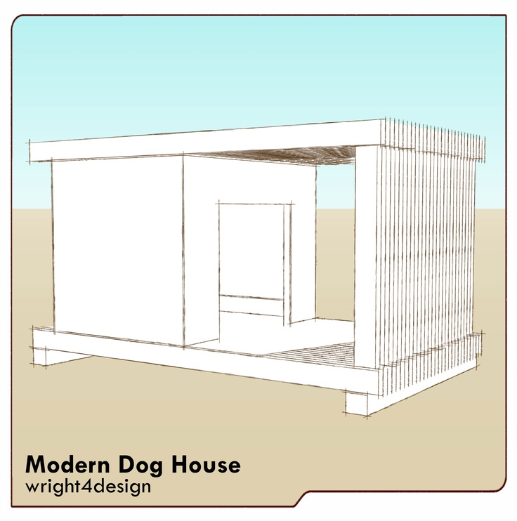 17 best images about dog house on pinterest wood working for Modern dog house designs