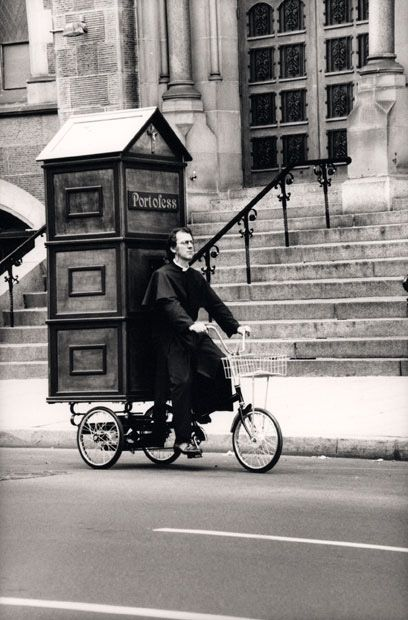 "Portable Confessional. This makes me laugh. "" ""For the sinner on the go."" I supp... 1"