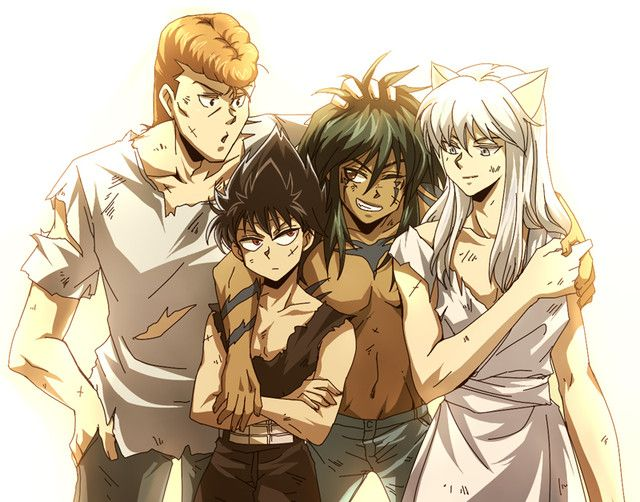Yu Yu Hakusho. All demoned up! Except Kuwabara because he is 100% human and proud of it!