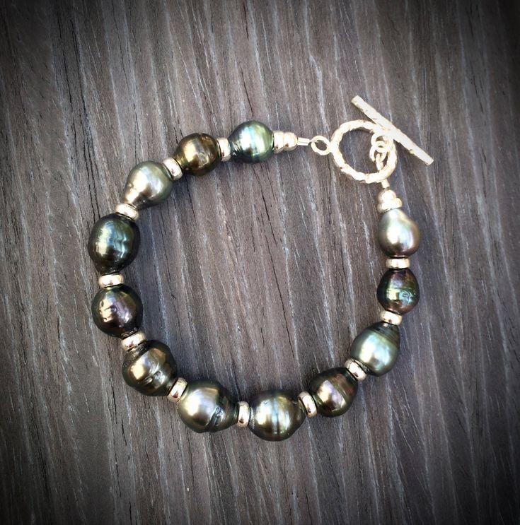 Tahitiperlen Armband Silber 925 Sterlingsilber Perle Tahiti http://etsy.me/2F8WuN9 #schmuck #armband #boho #beach #silber #sterlingsilber #silber925 #tahitiperle #perle