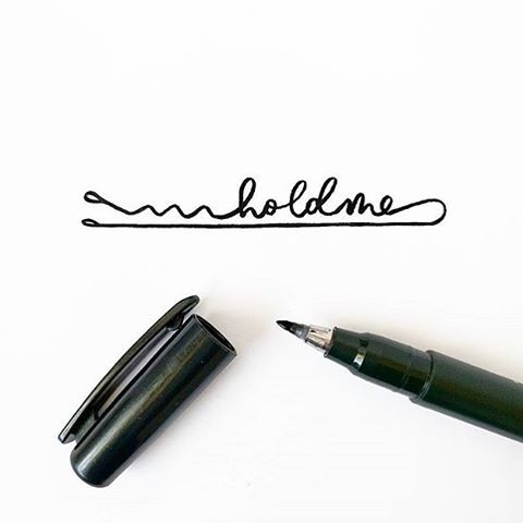 Clever handlettered bobby pin illustration