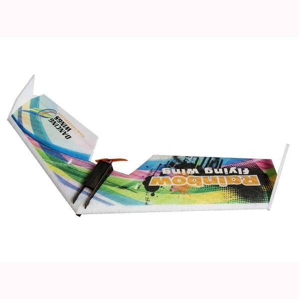 DW HOBBY Rainbow V2 Version 800mm Wingspan EPP Flying Wing FPV RC Airplane KIT           TheDW HOBBY Rainbow V2 Version is upgraded with strong steel wire in the back of the aircraft, reinforced the fuselage,more safe during flying. Description: Brand Name: DW HOBBY Item Name:...