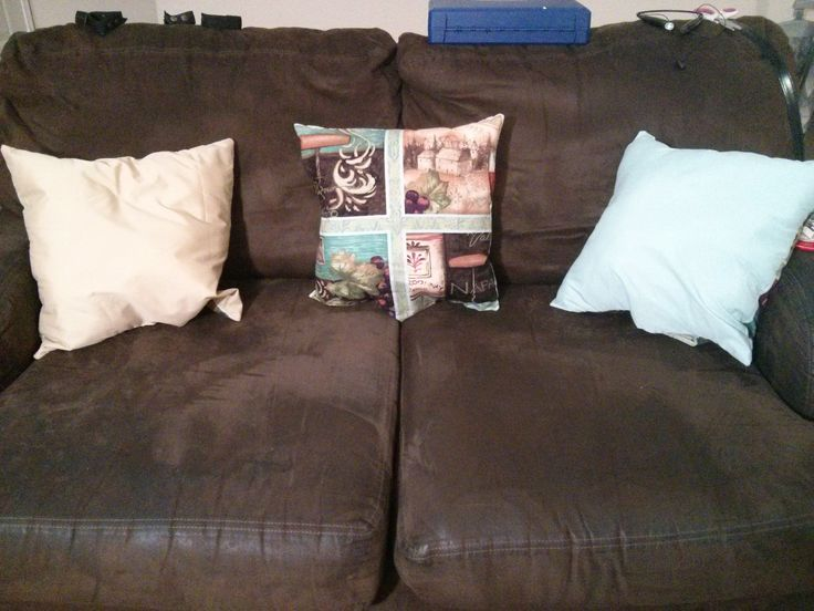 paneled throw pillows for my couch and loveseat
