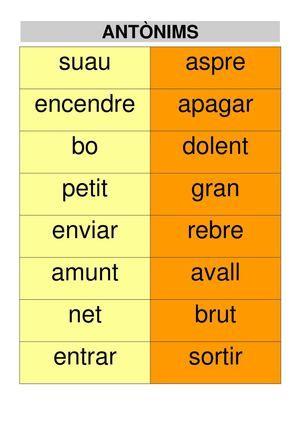 Sinònims I Antònims (2).