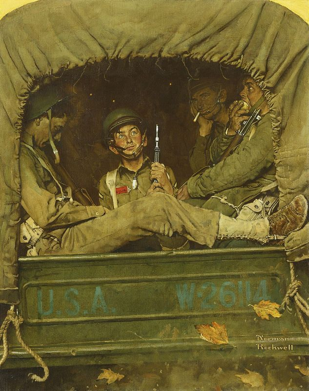 Norman Rockwell - Willie Gillis in Convoy [1941]