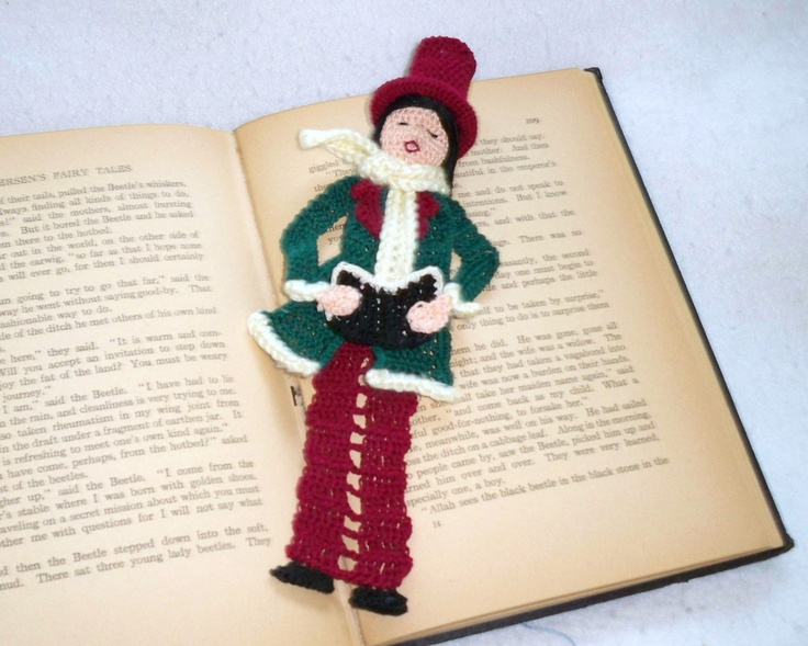crochet bookmark male victorian