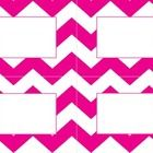 Colorful chevron labels for classroom supplies or student cubbies. Four labels per page, divided with light grey line for easy cutting with guillot...