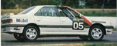 Peter Brock racing a Peugeot 405 at the 1992 Bathurst 12 Hour