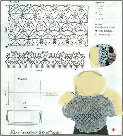 162 best crochet bolero images on pinterest crochet boleros stitch crochet pattern ccuart Image collections