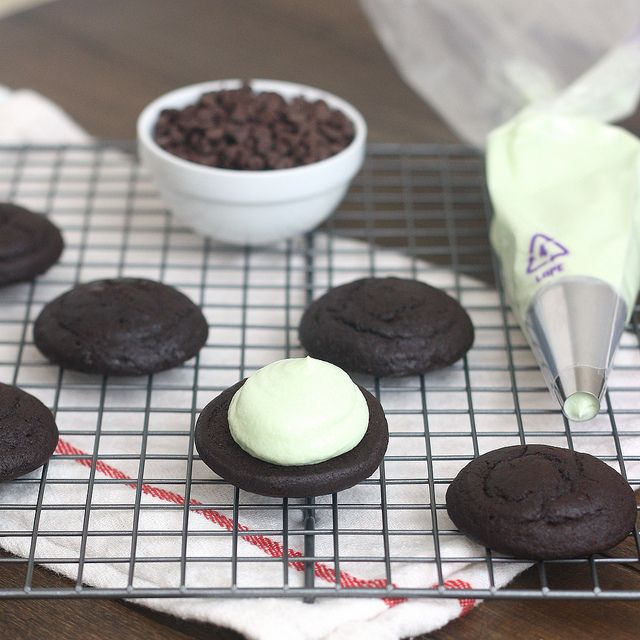 Mint Chocolate Chip Whoopie Pies by Tracey's Culinary Adventures, via ...