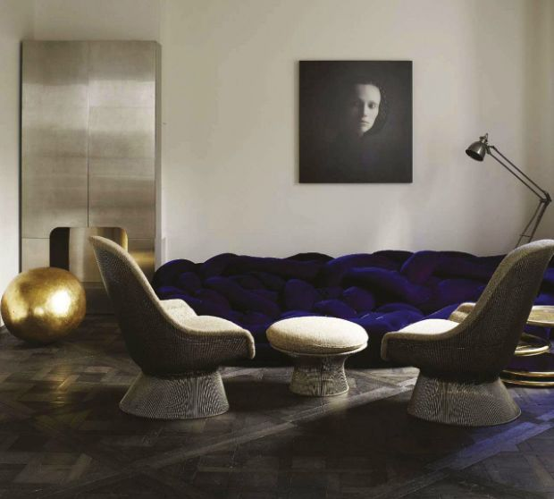 Vintage meets contemporary, as pieces by Warren Platner and the Campana Brothers blend seamlessly together in this luxurious St. Germain apartment