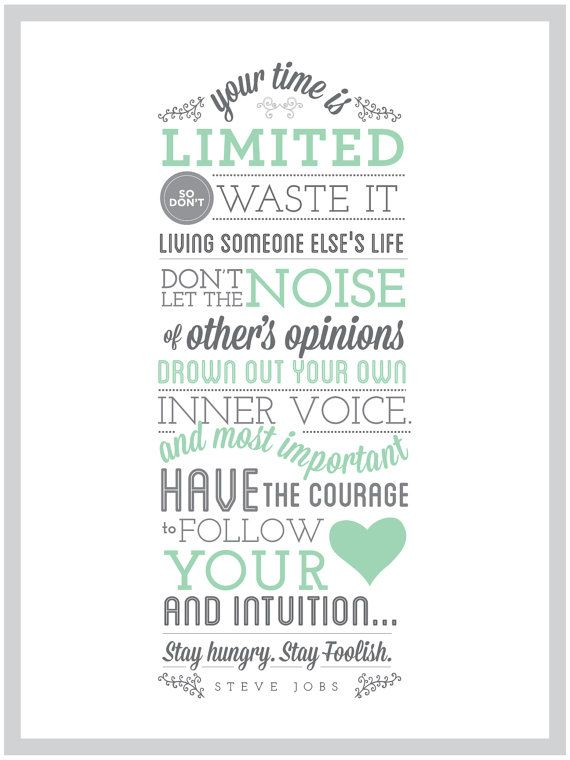 Steve Jobs Quote  Printable by Phillydesigner