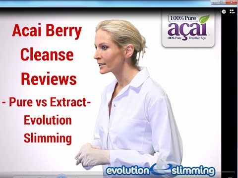 Acai Berry Cleanse Reviews- Pure vs Extract- Evolution Slimming 100% Acai Berry Cleanse Reviews - YouTube http://beautyandskincarereviews.com/pure-acai-berry-benefits-acai-benefits-health/