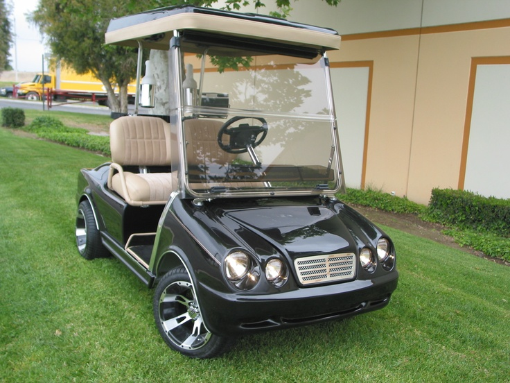 Mercedes front body kit with a Mercedes rear on a Club Car ds golf car