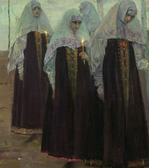 Mikhail Nesterov  detail, Hermit fathers and Immaculate Women