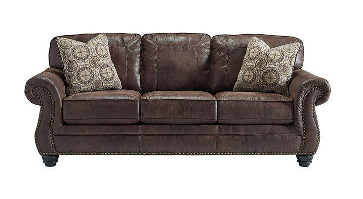 Best Benchcraft Breville Traditional Faux Leather Sofa 400 x 300