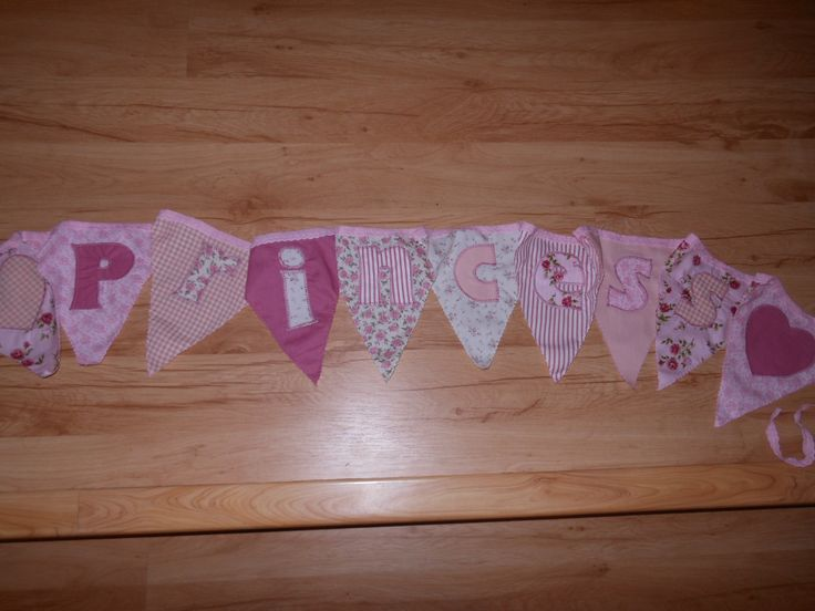 """Bunting for a """"princess"""""""