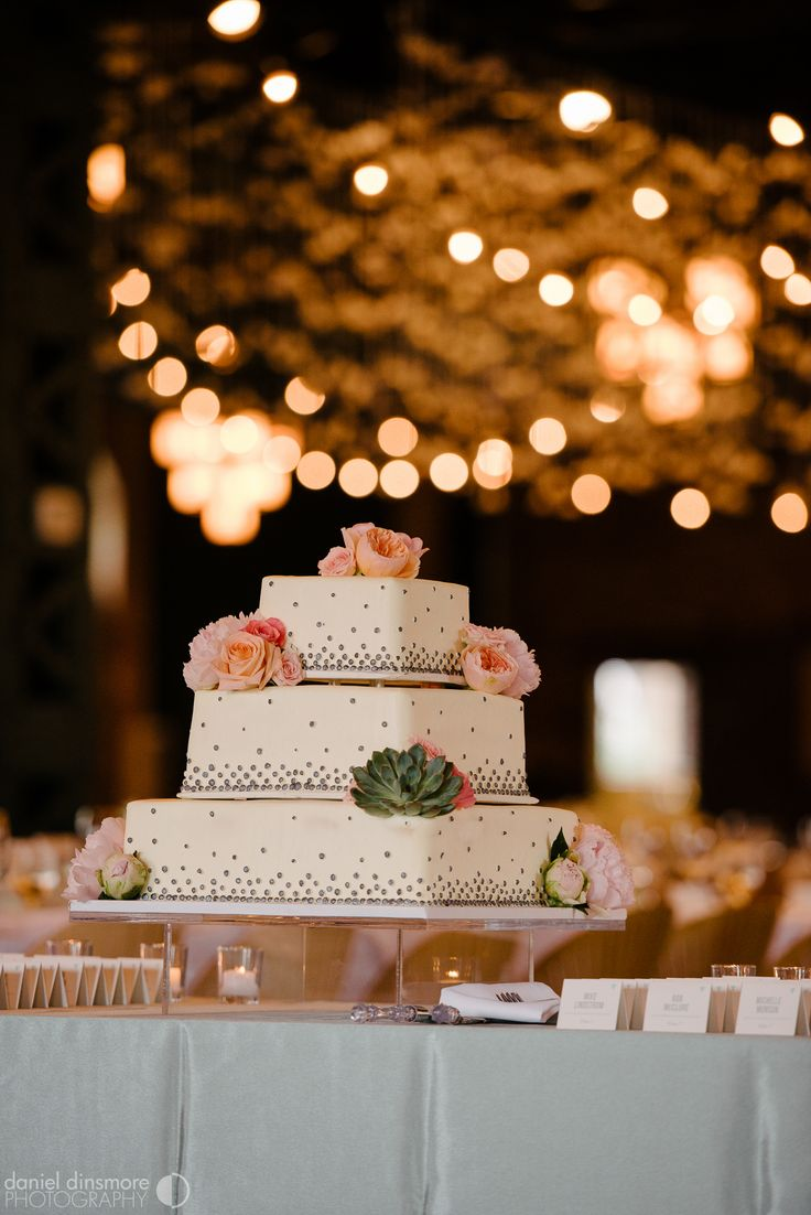 Cake designed by Buttercream | Nicollet Island Pavilion Wedding with Stacey & Nick | Daniel Dinsmore Photography