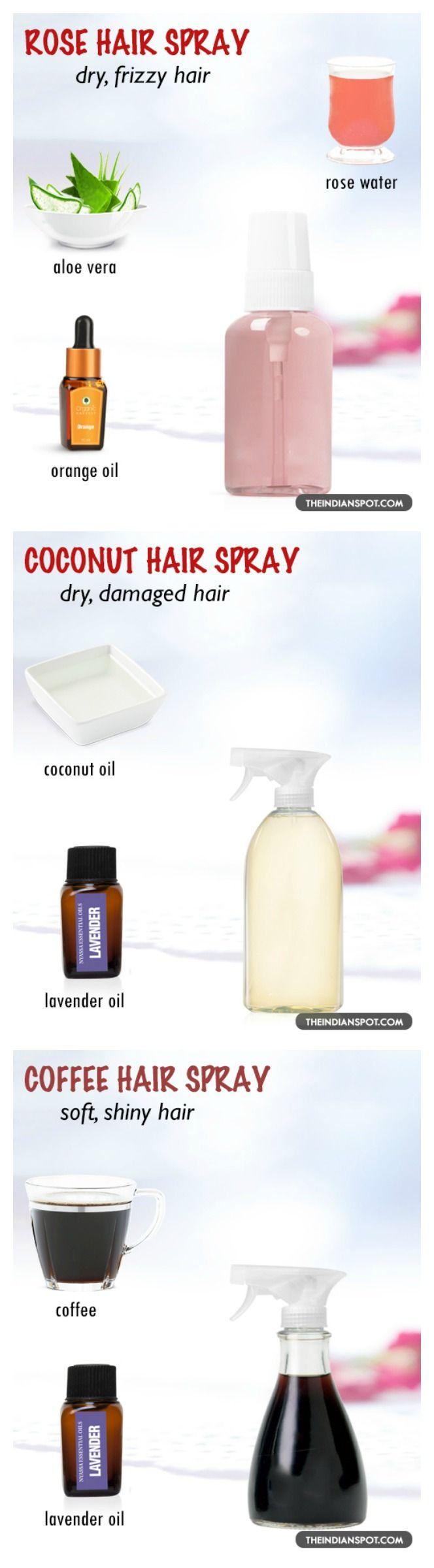 Rose aloe hair spray