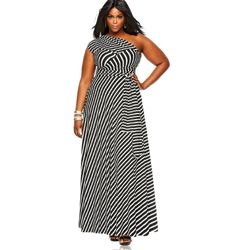 "Plus Size Fashion Find of the Day… ""Marilyn"" Long Convertible Dress in Stripe From Monif C. - http://www.plus-model-mag.com/2014/03/plus-size-fashion-find-of-the-day-marilyn-long-convertible-dress-in-stripe-from-monif-c/"