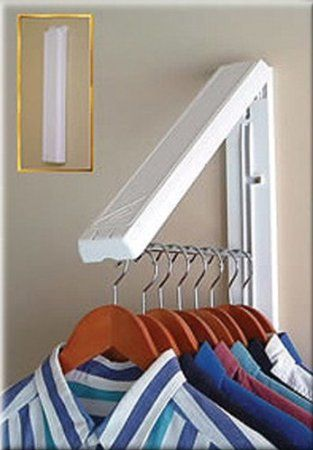 Maybe a better option for small space hanging. Amazon.com: Arrow Hanger AH12/R Instahanger Clothes Hanging System: Home & Kitchen